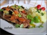 Krkovičkový plátek s restovanou zeleninou recept