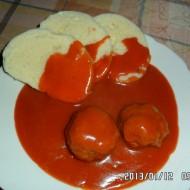 Rajská omáčka s koulemi z mletého masa recept