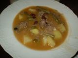Dvoufazolová polévka s mletým masem recept