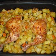 Kuřecí stehna na řecký způsob recept