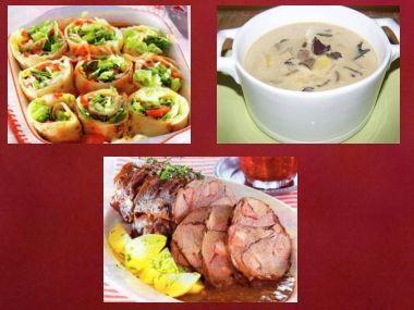 Sváteční oběd 12  předkrm, kulajda a kančí kýta