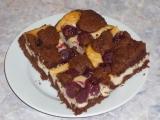 Tvarohový koláč s třešňovými hnízdy recept