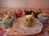 Muffiny se špenátem a nivou recept