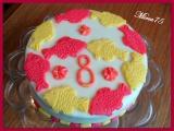Potahovaný dort k narozeninám recept