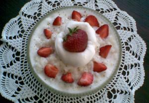 Ovocná smetanová rýže