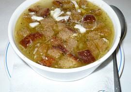 Česneková polévka  sváteční recept