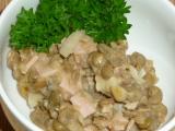 Zavinutý čočkový salát recept
