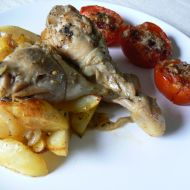 Kuřecí paličky s pečenými rajčaty recept