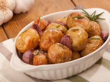 Recept Pečené brambory s rozmarýnem