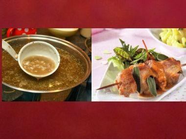 Sváteční oběd 41  Ovarová polévka a Vepřové špízky