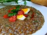Čočková polévka s pohankou (falešná zabíjačková) recept ...