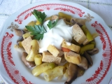 Tofu s fazolkami a žampiony recept
