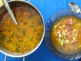 Fazolová polévka s moravskou klobásou recept