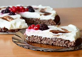 Zdravý kakaový dortík s pudinkem a tvarohem recept