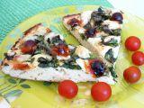 Česneková pizza se špenátem recept