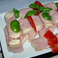 Šunkové závitky se zeleninovým tvarohem recept