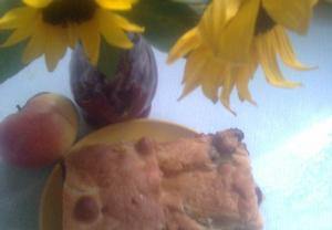 Buchta s jablky a hrozinkami