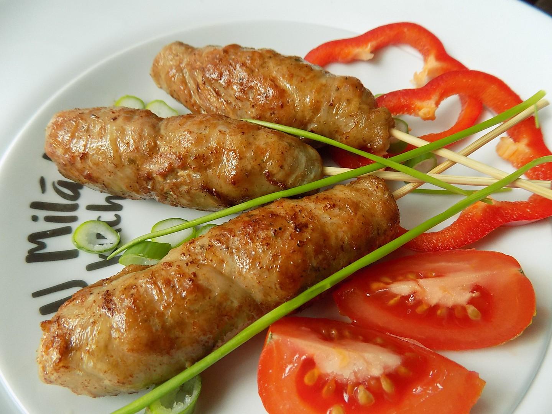 Kebab v masové bláně  bránici recept