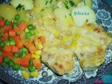 Žloutkové vepřové plecko na pórku s dušenou zeleninkou ...