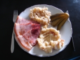 Pražská uzená kýta, šťouchané brambory recept