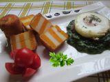 Dvoubarevné krokety se špenátem a sázeným vejcem recept ...
