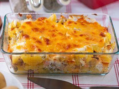 Pražské brambory se sójovou šunkou  dia