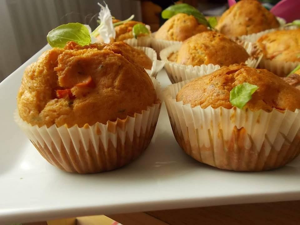 Muffiny s rajčaty a mozzarellou recept