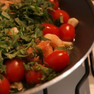 Těstoviny s krevetami recept