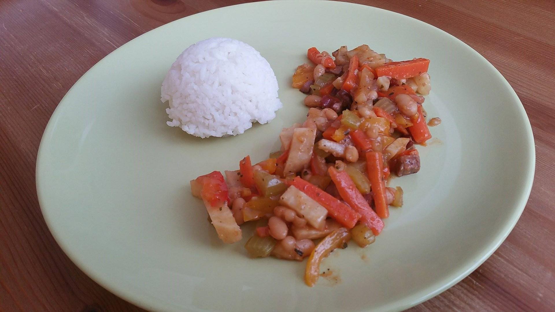 Zeleninová směs s rýží recept