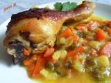Kuřecí paličky na kari a máslové zelenině recept