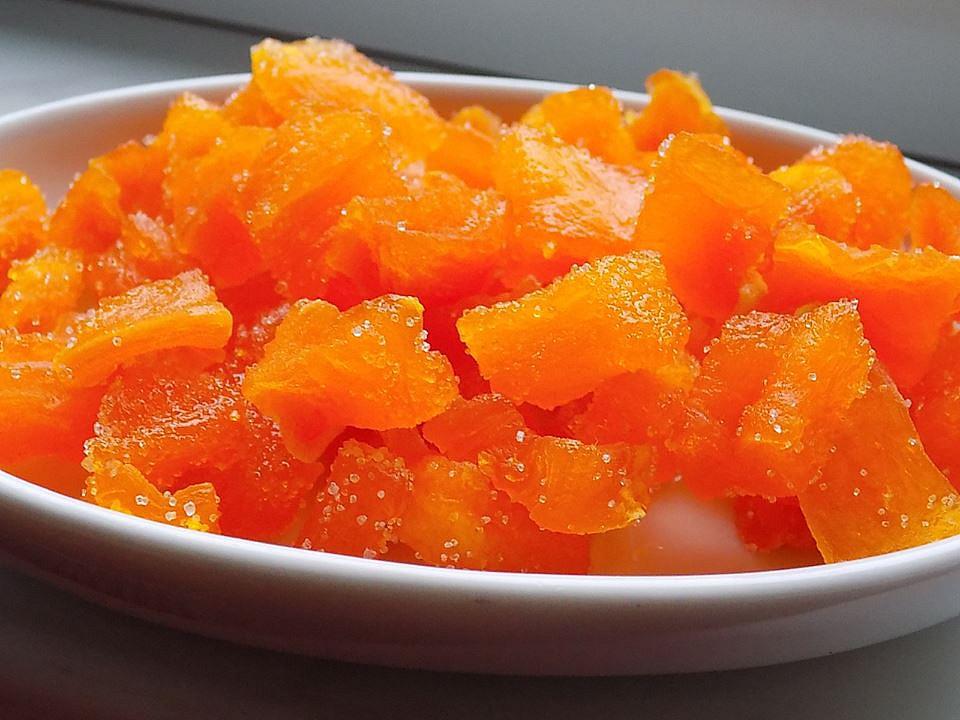 Kandovaná dýně s příchutí pomeranče recept