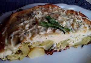 Brokolice (květák) se sýrovou smetanou  zapečená