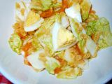 Zelný salát s červenou čočkou recept
