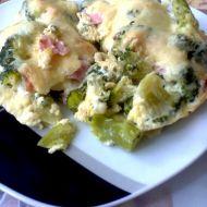 Zapečená brokolice se šunkou a sýrem recept