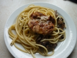 Kuře na špagetách recept