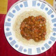 Těstoviny s kořeněnou omáčkou recept