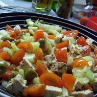 Olivový salát s tofu recept