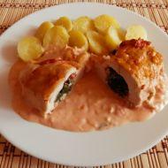 Plněná kuřecí prsa se špenátem recept