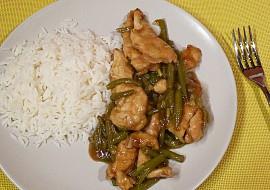 Kuřecí nudličky se zelenými fazolkami recept