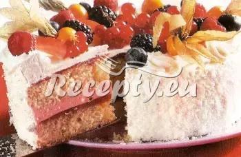 Piškotový dort recept  moučníky