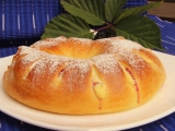 Ostružinový kynutý věnec recept