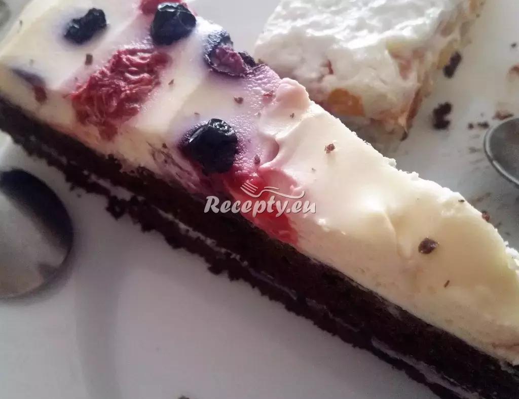 Tvarohový borůvkový dort recept  moučníky
