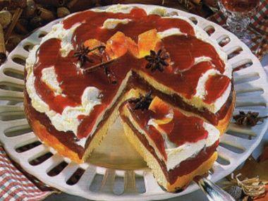 Punčový dort se švestkami