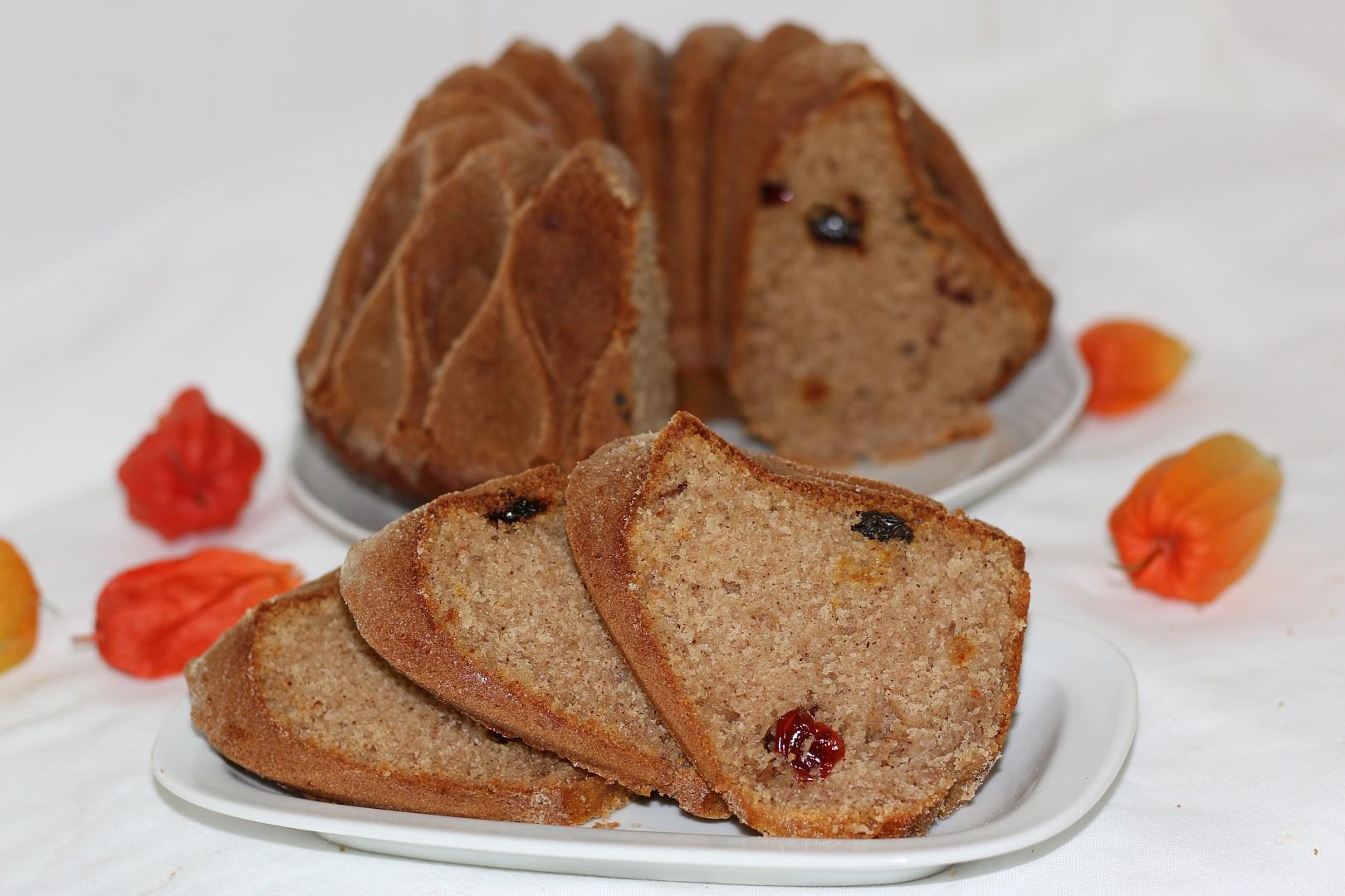 Bábovka se sušeným ovocem recept