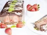 Cokoladovo-jahodovy dezert recept