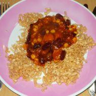 Fazolové nudle s kuřecím recept