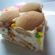 Mléčný piškotový dort recept