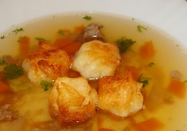 Nočky z páleného těsta  do polévky recept