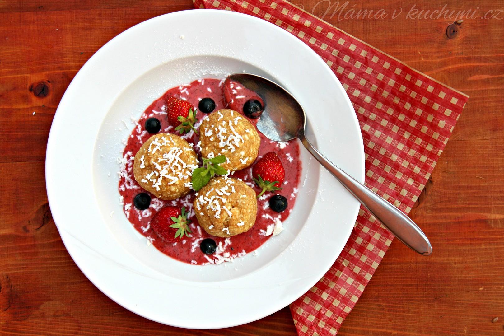 Celozrnné jahodové knedlíky recept