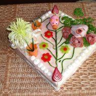 Slaný dort s prasátkem recept